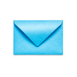 Blue envelope Royalty Free Stock Images