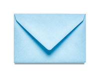 Blue envelope. Light blue envelope  on white background. Object with clipping path Stock Photography