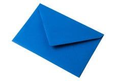 Blue envelope on white background Royalty Free Stock Photo