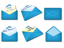 Blue envelopes Royalty Free Stock Image
