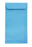 Blue envelopes. On white background Royalty Free Stock Photo