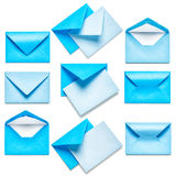 Blue envelopes Royalty Free Stock Photos