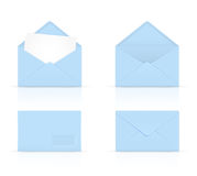 Blue envelopes Royalty Free Stock Photography