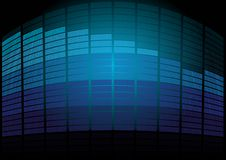 Blue Equalizer Royalty Free Stock Photography