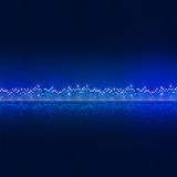 Blue Equalizer Dots Royalty Free Stock Images