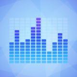 Blue Equalizer Stock Image