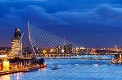Blue Erasmus bridge royalty free stock images