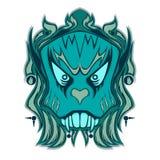 Blue Ethnic Bone Head Design Stock Photography