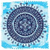 Blue Ethnic ornament Royalty Free Stock Photography
