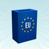 Blue EU box Stock Image