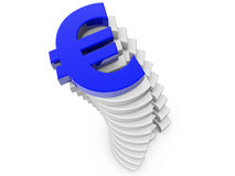 Blue Euro Sign Royalty Free Stock Photos