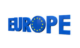 Blue Europe Text Stock Photography