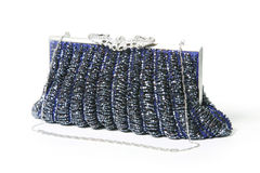 Blue evening bag royalty free stock images