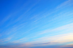 Blue evening sky Royalty Free Stock Photography