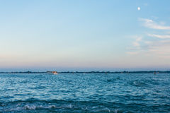 Blue evening sky over san marco basin in Venice Stock Image