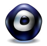 Blue evil eye bead Stock Photo