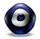 Blue evil eye bead. Turkish lucky charm blue evil eye isolated vector illustration