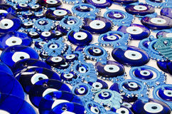 Blue Evil Eye Charms Stock Photography
