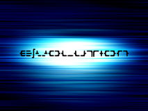Blue evolution Stock Image