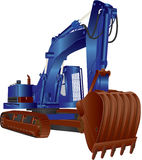 Blue Excavator Royalty Free Stock Photography