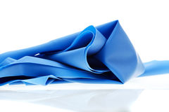 Blue exercise band Stock Photos