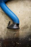 Blue Exhaust Hose Stock Photo