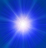 Blue explosion. Of the star Stock Image