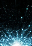 Blue Explosion. Abstract blue lights and stars Royalty Free Stock Photos