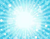Blue Explosion Background Stock Images