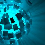 Blue Explosion Background Royalty Free Stock Photo