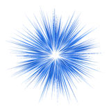 Blue explosion graphic design on white background Stock Image