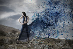 Blue Explosion Royalty Free Stock Images