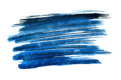 Blue expressive brush strokes. Isolated on the white background. Element for your design Royalty Free Stock Photo