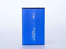 Blue external case 2.5 inch . Stock Photography