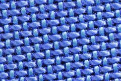 Blue extreme macro fabric synthetic texture Royalty Free Stock Photo