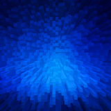 Blue extrude geometric abstract background for technology Stock Images