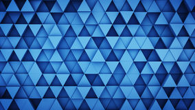 Blue extruded triangles hipster background 3D render. Blue extruded triangles. Abstract hipster background with geometric elements. 3D render illustration Stock Image