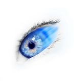 Blue eye. Woman eye...beautiful young blue eye..fast motion Stock Photo
