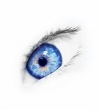 Blue eye. Woman eye...beautiful young blue eye Royalty Free Stock Photo
