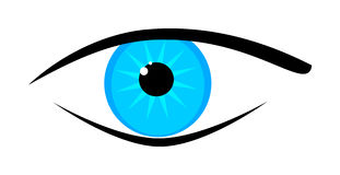 Blue eye vector illustration