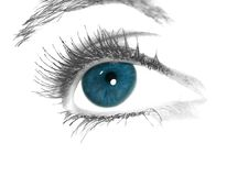 Blue eye. Artwork of a blue eye Royalty Free Stock Image