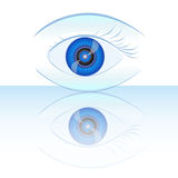 Blue eye. Vector abstract illustration vector illustration