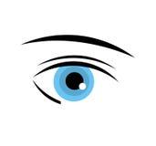 Blue eye. Pretty blue eye of woman. vector illustration Stock Photography