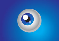 Blue eye. Big blue eye on blue background Royalty Free Stock Photos