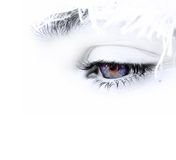 Blue eye. Photo of a young woman blue eye Royalty Free Stock Photography