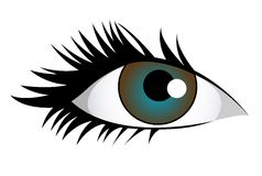 Blue eye royalty free illustration