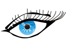 Blue eye. On white background - vector Stock Photography