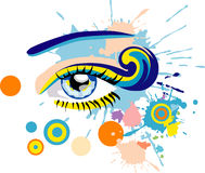 Blue eye. Blue abstract eye. Vector illustration Royalty Free Stock Photo