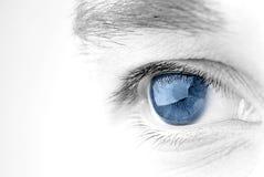 Blue eye. Eye closeup in blue and b/w duotone Stock Image