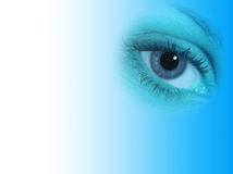 Blue eye abstract Royalty Free Stock Photos
